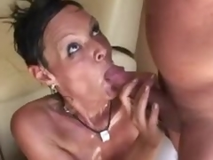 Milf doing it up with 2 guys
