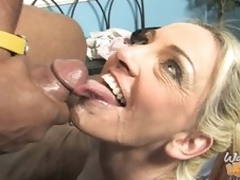 Cala Craves rides darksome shlong and takes load to face