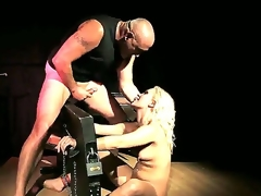Blonde smoky slut Lilly Spider get a harcore fast pounding in her tight round arse by a massive palpitating shafted spades