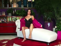 After getting out of her sexy underware and showing off her feet and tits, Danica Dillon gets personal with a pink vibrator for a sweet orgasm. Watch our recent episode at this site.