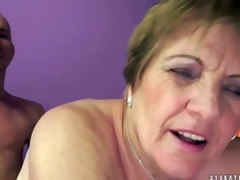 Piros is s naughty granny that acquires her hairy moist cunt fucked deep and hard by her sex obsessed young lover. He sticks his dick in her many times used aged cunt and she loves it so fucking much!