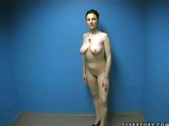 Hot and curvy non-professional momma disrobes in front of the camera and shows her naked body in order to make guys lusty and gives head on her non-professional porn video