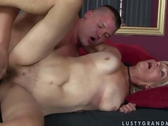 Brad Russel is a excited aged golden-haired woman with wet hairy snatch. This babe gets her vagina fucked by hard dicked juvenile fellow who can not get enough. Watch aged doxy get banged in many positions by hot juvenile fellow