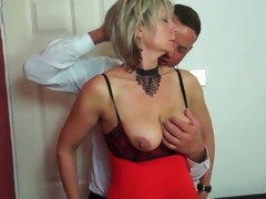 Big whoppers mature in sexy underware sucks schlong
