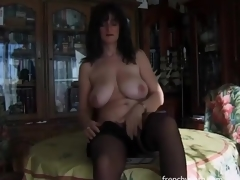 Erotic solo porn with big billibongs dark brown beauty