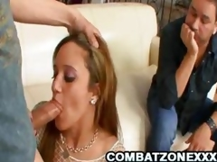 Lynn Love throat fucks this unbending shaft