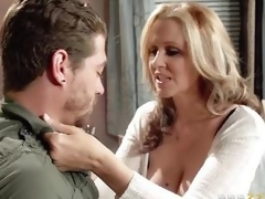 Julia Ann gets pumped by her sons ally