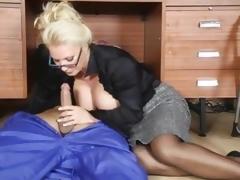 Lana Coxx office milf engulfing cock