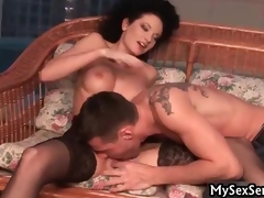 Awesome babe in stockings acquires drilled part6