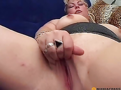 A stud stroking her soft pussy