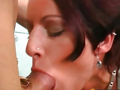 In her wet pussy put his penis