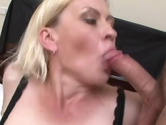 Blonde old has care of couple males