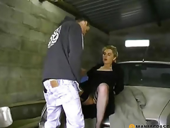 Fucks whore in his garage