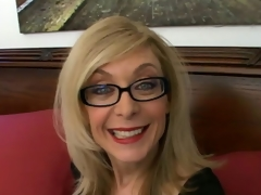 Sweety blonde granny in glasses Nina Hartley talking bawdy in the bedroom