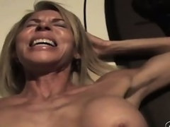 The wild of age lady sighs with enjoyment as A he drives his cock unfathomable less say no to pussy
