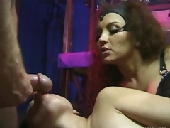 Breasty Latina Dominatrix-bitch Fucks Her Sex Slaves Until Getting Facialized