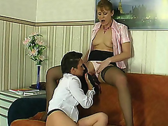 Skilful honey stretching older hottie