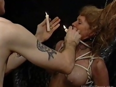 Resigned Blonde MILF Gets Tortured in a Sex Dungeon
